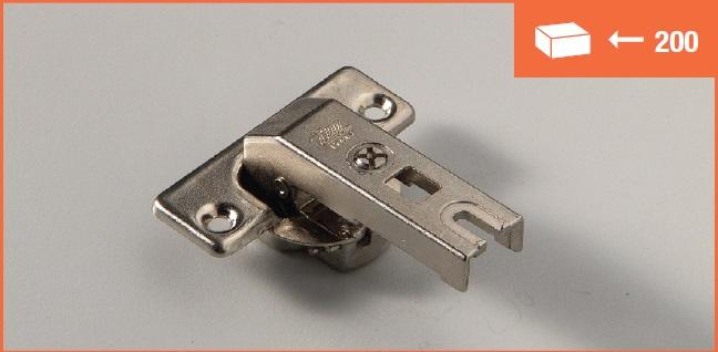 Eurolock hinge 95° for corner cabinets short arm