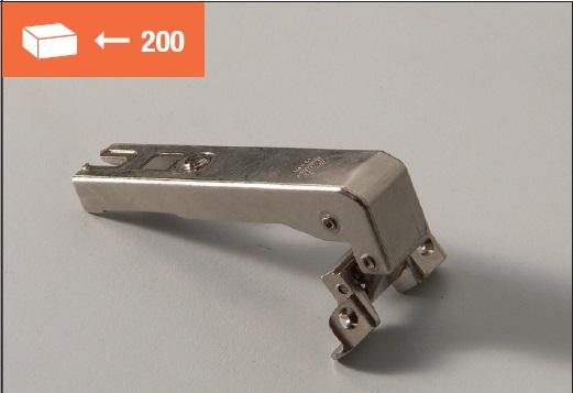 Eurolock hinge 95° for corner cabinets long arm for aluminum doors