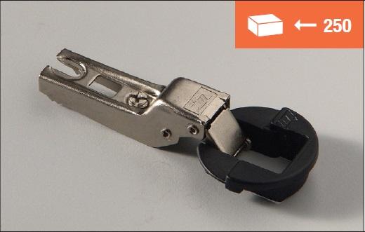 Eurolock hinge 95° half overlay for glass doors