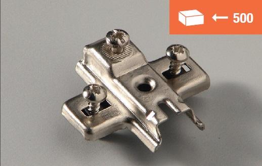 Eurolock mounting plate 10mm dowel fixing