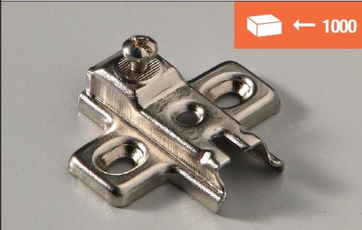 Eurolck mounting plate screw fixing
