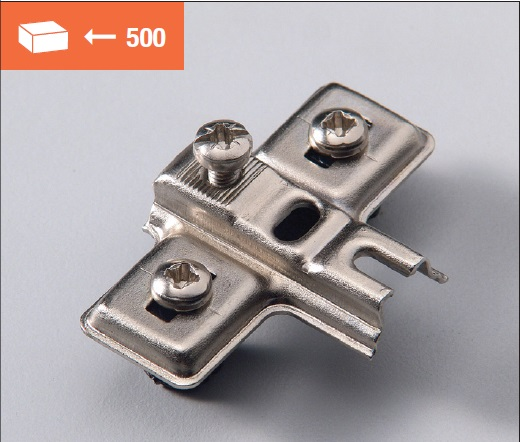 Nylon Euromini mounting plate with screw fixing