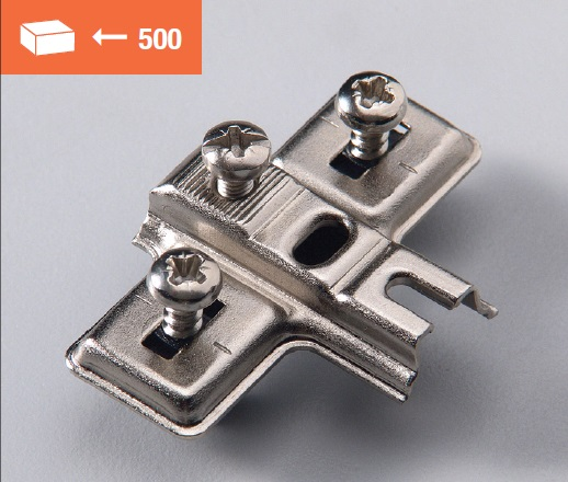 Euromini mounting plate 5mm dowel fixing