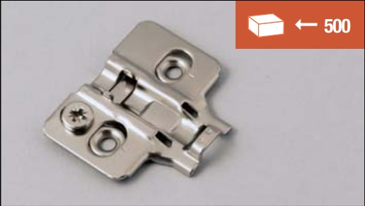 Munting plate for clip-on hinges, normal screw fixing system, with 3D adjustment