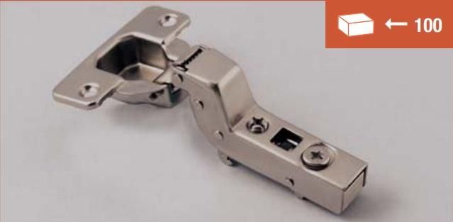 TM Smart clip-on hinge 110° inset application