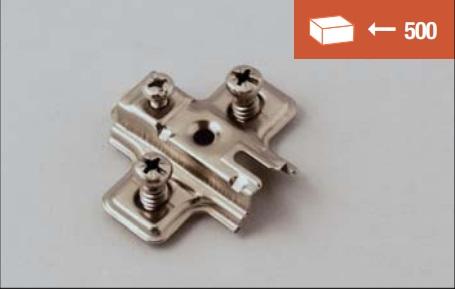 Base di fissaggio a vite EURO 12 mm per cerniere slide-on