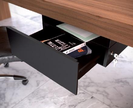 Cassetti in metallo per scrivania