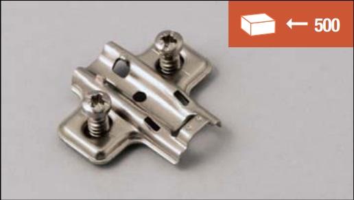 Base di fissaggio a vite EURO 12 mm per cerniere clip-on, standard