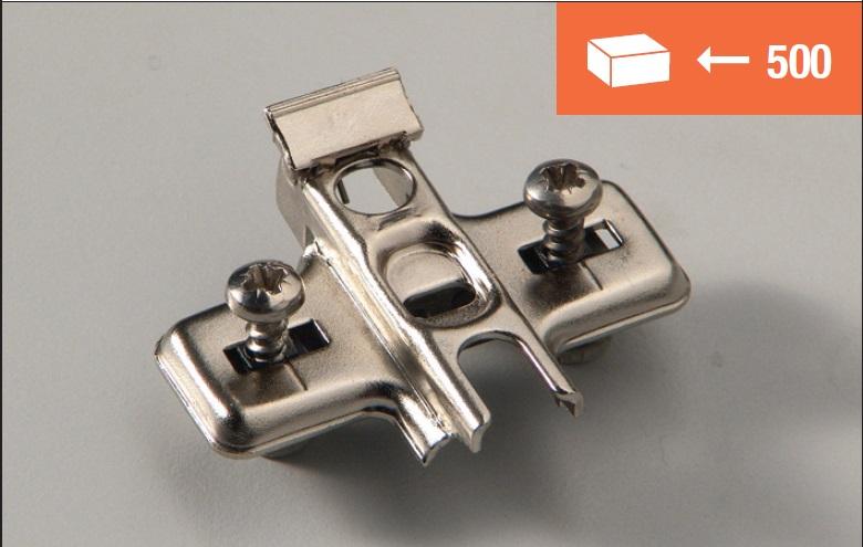 Base Euroclip fissaggio tassello 5mm