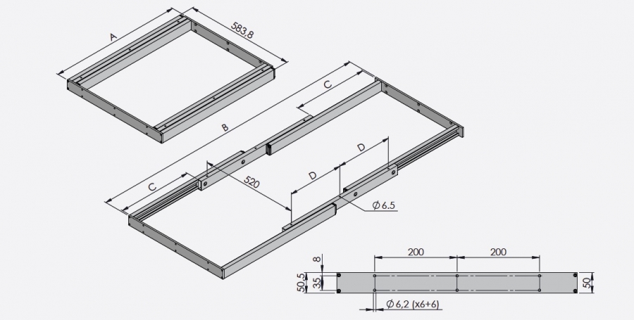 Table frames Standard series TG50